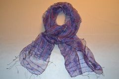 Raw Silk Scarf with loops