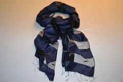 Transparent Navy Scarf