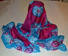 Silk Batik Patterned Scarf
