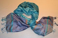 Jacquard Mulberry Scarf