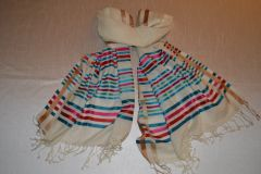 Silk Scarf with wool mix