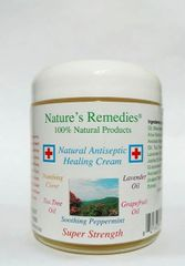 100% Natural Antiseptic Healing Cream (4 ounce glass jar)