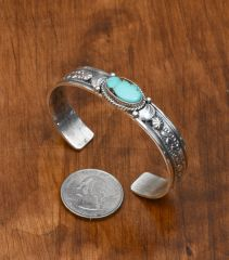 Inexpensive Navajo Sterling cuffs by Gilbert Tom.