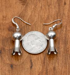 Sterling Navajo squash blossom earrings by Monica Smith.