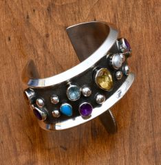 Smaller wrist size contemporary Sterling cuff by Chimney Butte.—SOLD!