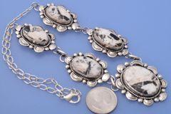 Navajo five-pendant White Buffalo necklace by Marcella James.