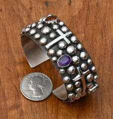 Sterling cuff with distinctive Chimney Butte design.