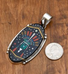 Night sky inlay pendant by Michael Jack.