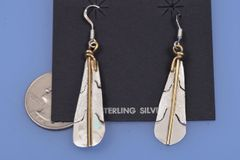 Navajo sterling feathers with gold-fill