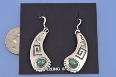 Sterling Navajo earrings with turquoise.