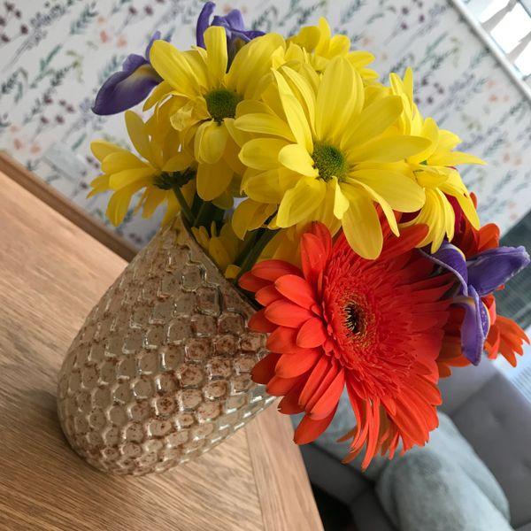 Gold Honeycomb Vase