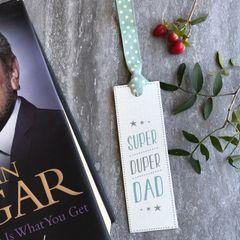 East Of India Super Duper Dad Bookmark