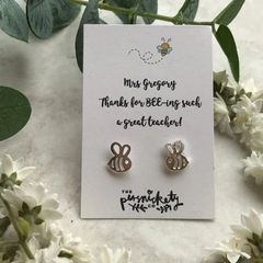 Thanks For BEE-ing Such A Great Teacher /Teaching Assistant Bee Earrings