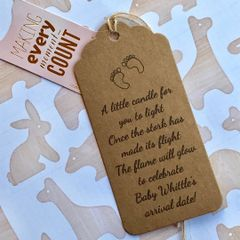 Baby Shower Candle Gift Tags