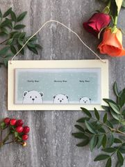 East Of India Daddy Bear, Mummy Bear and Baby Bear Picture