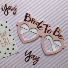 Bride To Be Heart Shaped Glasses