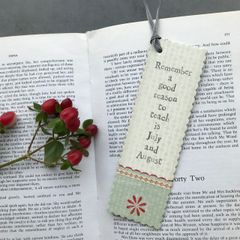 East of India Remember A Good Reason To Teach Bookmark