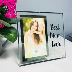 Best Mum Ever Glass Photo Frame