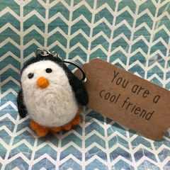 Felt Penguin Keyring - You Are A Cool Friend