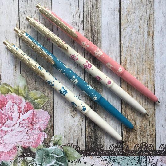 Floral Gold Clip Ballpoint Pen