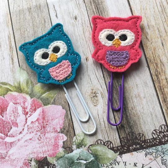 Felt Owl Paper Clip