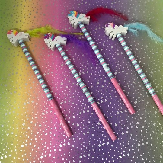 Unicorn Pencil With Unicorn Eraser Topper