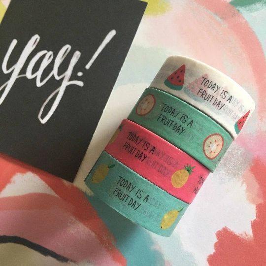 Washi Tape - Today Is A Fruit Day
