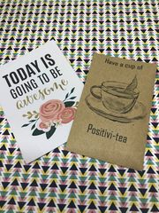 Have A Cup Of Positivi-TEA, Mini Kraft Envelope with Tea Bag