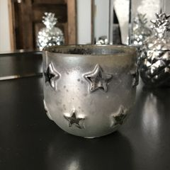 Silver Star Tealight Holder