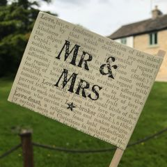 East Of India Mr And Mrs Paper Flag