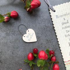 East Of India Best Teacher Miniature Heart Sign