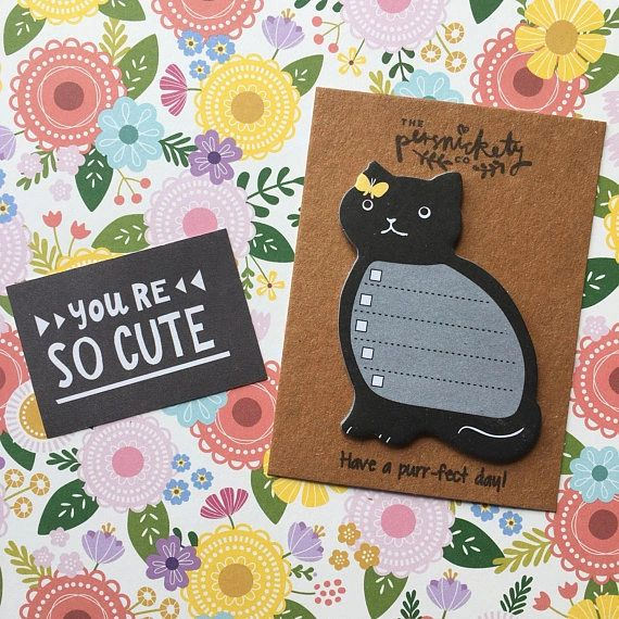 Cat Sticky Note - Have a purr-fect day!