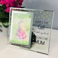 She Calls Me Mum Glass Photo Frame