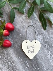 East Of India Best Dad Miniature Heart Sign