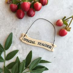East of India Special Teacher Miniature Sign
