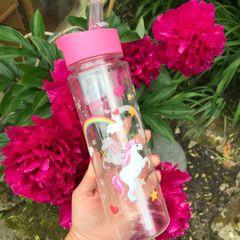 Unicorn and Rainbow Water Bottle