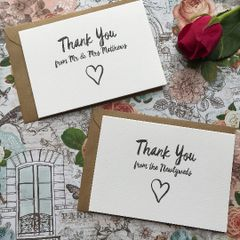 Thank You From The Newlyweds Card