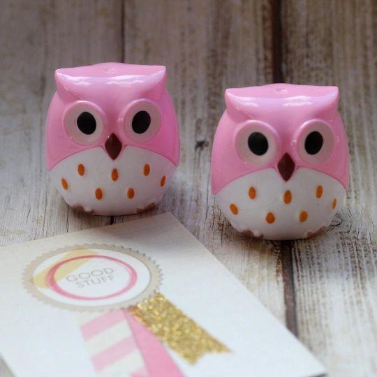 Owl Pencil Sharpener - Pink