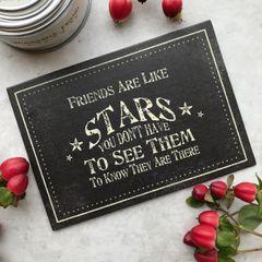 East Of India Friends Are Like Stars Postcard