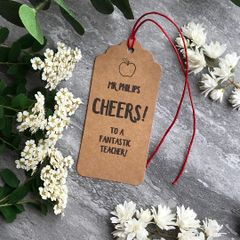 CHEERS! Teacher Wine Tag