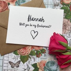 Wedding Card, Personalised Will You Be My Bridesmaid?