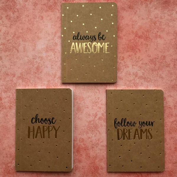 Sass & Belle Metallic Spots Pocket Notebook