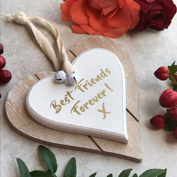 Best Friends Forever! Hanging Heart Sign