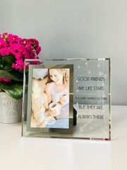 Good Friends Are Stars Glass Photo Frame