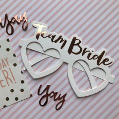 Team Bride Heart Shaped Glasses