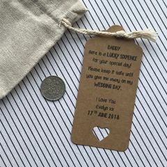 Lucky Sixpence Gift Bag For Dad