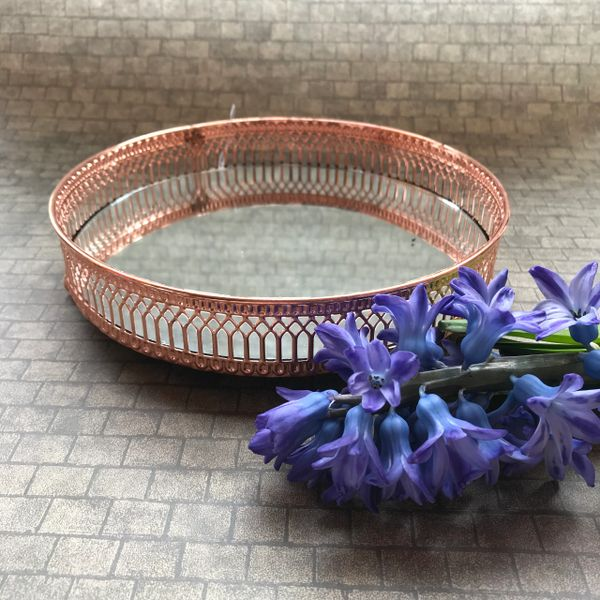 Mirrored Copper Candle Plate