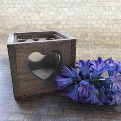 Wooden Heart Glass Insert