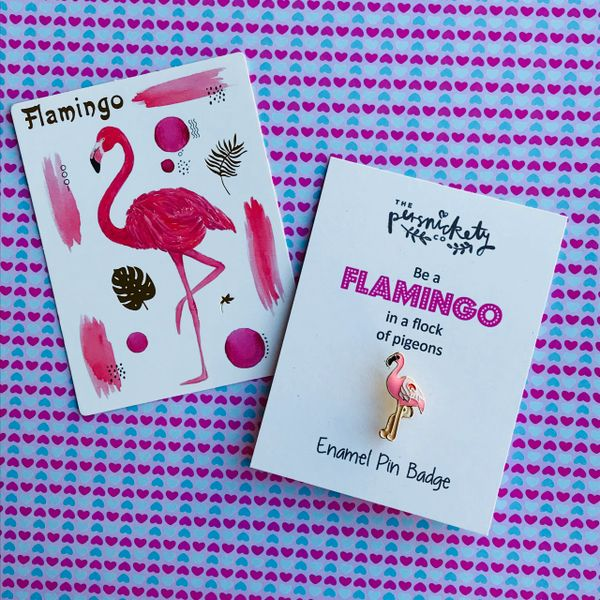 Flamingo Emanel Pin