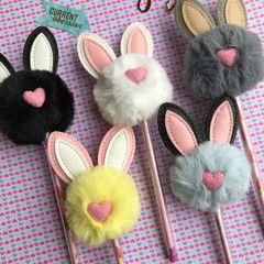 Plush Rabbit Gel Pen